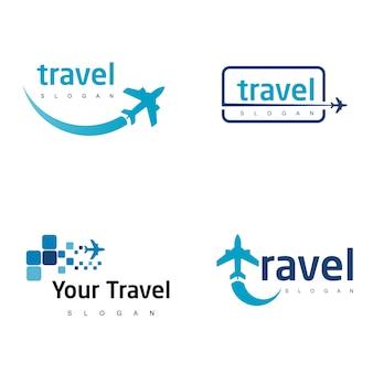 Conjunto de logotipo de viagem