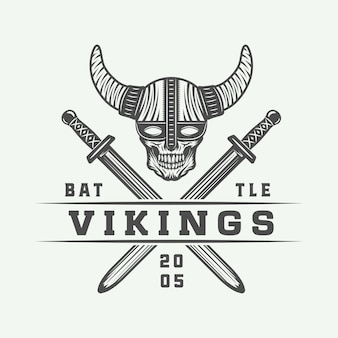 Conjunto de logotipo de vikings