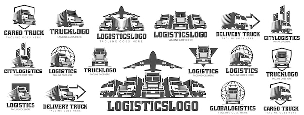 Conjunto de logotipo do caminhão