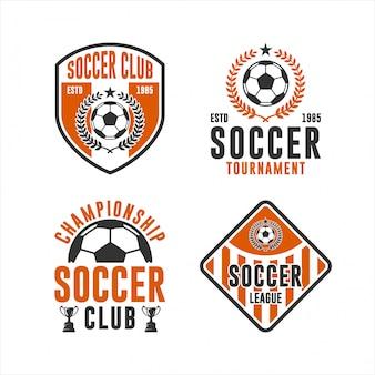 Conjunto de logotipo do campeonato de clube de futebol