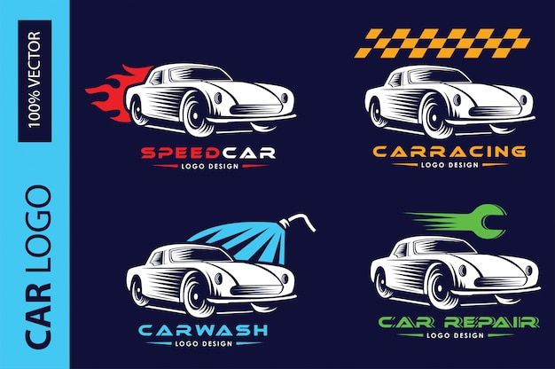 Conjunto de logotipo do carro