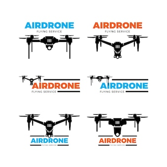 Conjunto de logotipo do drone