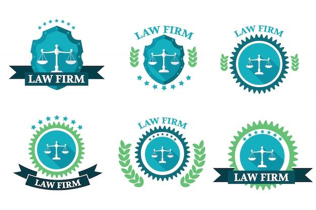 Conjunto de logotipo do escritório de advocacia
