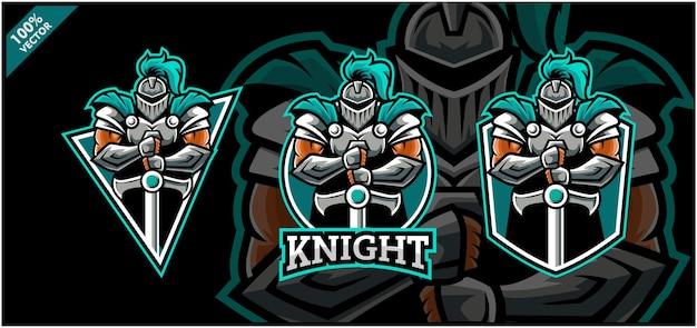 Conjunto de logotipo do esporte de cavaleiro.