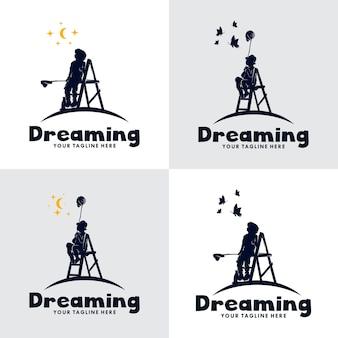 Conjunto de logotipo do kids dream