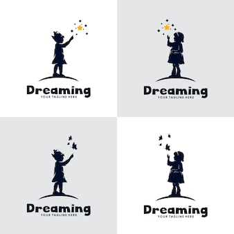 Conjunto de logotipo do kids dream