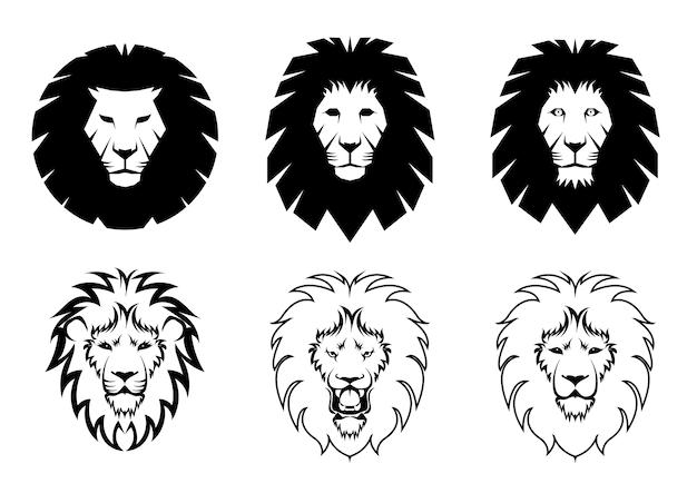 Conjunto de logotipo do leão
