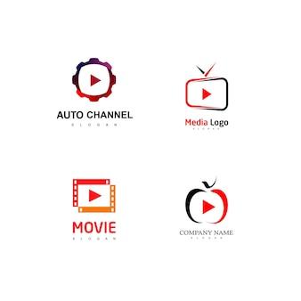 Conjunto de logotipo do media player