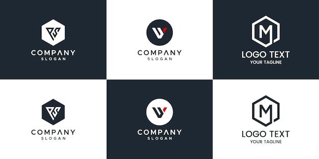 Conjunto de logotipo do monograma