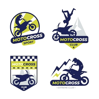 Conjunto de logotipo do motocross