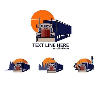 Conjunto de logotipo do truck express