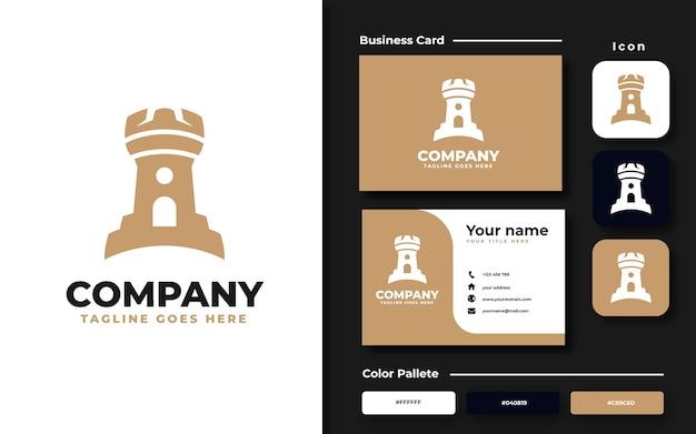 Conjunto de logotipo e cartão de visita da castle