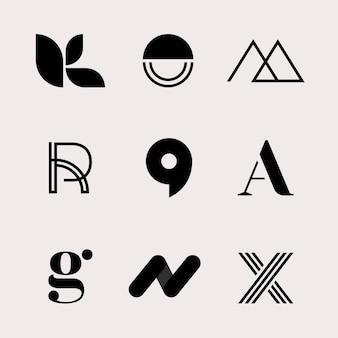Conjunto de logotipo empresarial clássico moderno