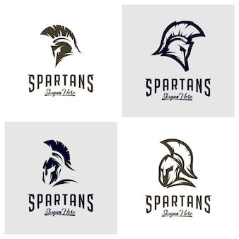Conjunto de logotipo espartano
