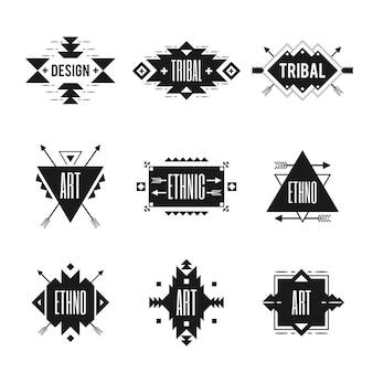Conjunto de logotipo étnico