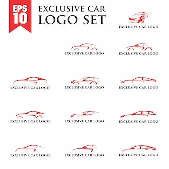 Conjunto de logotipo exclusivo do carro