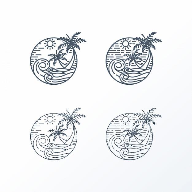 Conjunto de logotipo feminino letras