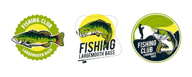 Conjunto de logotipo fisihing
