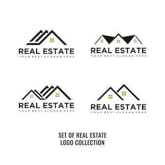 Conjunto de logotipo imobiliário