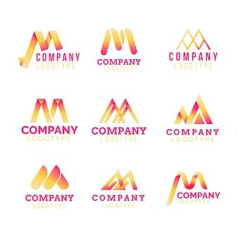 Conjunto de logotipo m