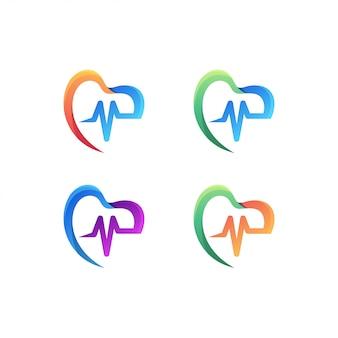 Conjunto de logotipo médico
