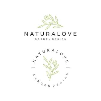 Conjunto de logotipo natureza natureza
