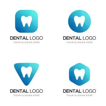 Conjunto de logotipo odontológico