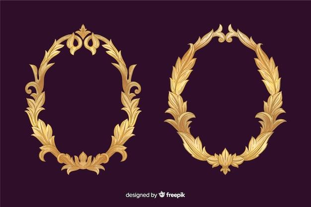 Conjunto de logotipo ornamental vintage