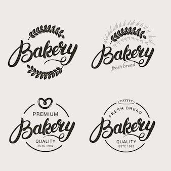 Conjunto de logotipo padaria e pão.