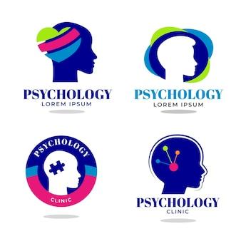 Conjunto de logotipo plano de saúde mental