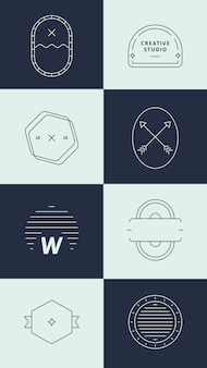 Conjunto de logotipo simples de negócios