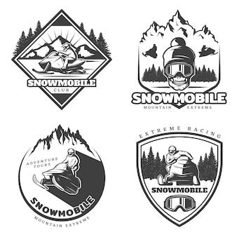 Conjunto de logotipo vintage active leisure