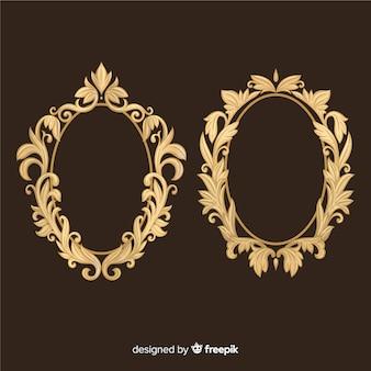 Conjunto de logotipo vintage ornamental