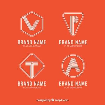 Conjunto de logotipos com iniciais