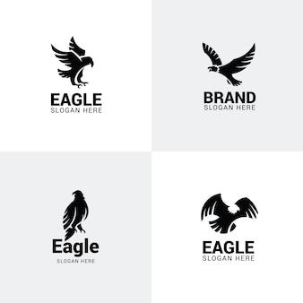 Conjunto de logotipos de águia