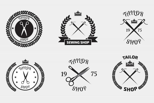 Conjunto de logotipos de alfaiate