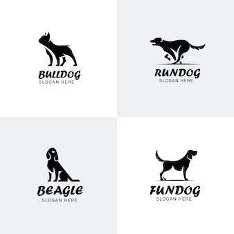 Conjunto de logotipos de cães