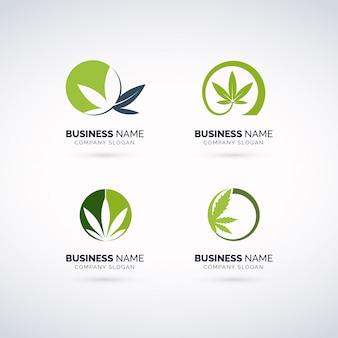 Conjunto de logotipos de canábis