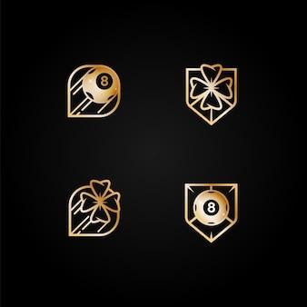 Conjunto de logotipos de cassino