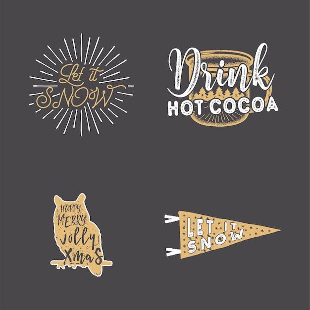 Conjunto de logotipos de citações
