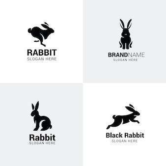 Conjunto de logotipos de coelho