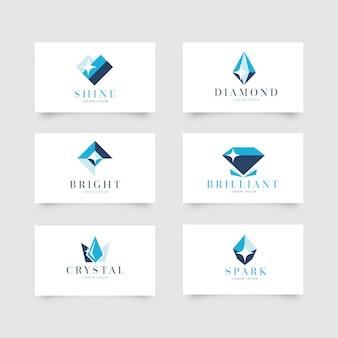 Conjunto de logotipos de diamante para empresa