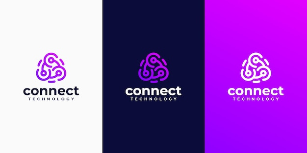 Conjunto de logotipos de empresas de tecnologia criativa