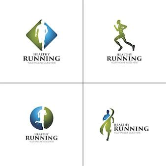 Conjunto de logotipos de esporte