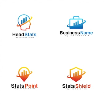 Conjunto de logotipos de estatísticas