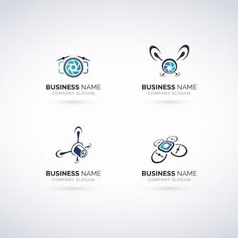 Conjunto de logotipos de fotografia