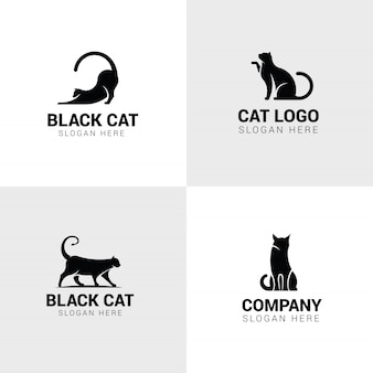 Conjunto de logotipos de gato