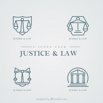 Conjunto de logotipos de lei