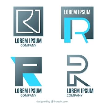 Conjunto de logotipos de letra