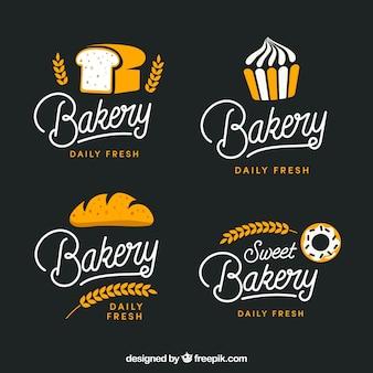 Conjunto de logotipos de padaria para empresa
